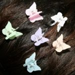 Small Butterfly Clip Frosted Colors