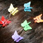 Small Butterfly Clip Iridescent Colors