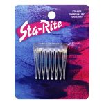 """Plastic Side Combs - Crystal, 1½"""" inch"""