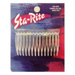 """Plastic Side Combs - Crystal, 3"""" inch"""