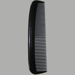 "5"" Black Plastic Pocket Comb"