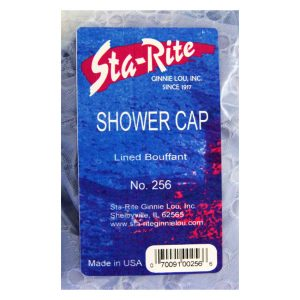 Eyelet Covered Shower Cap