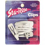 Metal Snap-Eze Clips - 8ct. - White