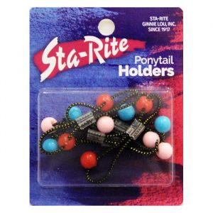 Opaque Beaded Ponytail Holders