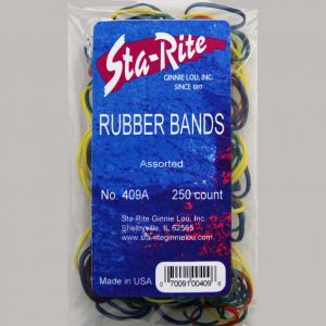 #8 Rubber Bands - 250ct. - Assorted Colors