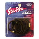 Fat Elastic Ponytail Holders - Brown