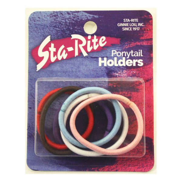 Metal Free Fat Elastics Ponytail Holders - Assorted Colors