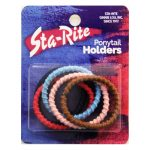 Metal-Free Ponytail Holder with Thread Wrap - Assorted Colors