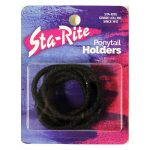 Metal-Free Ponytail Holder with Thread Wrap - Black