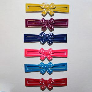 Metal Bow Barrettes